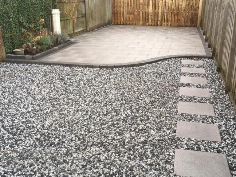 stones and slabs in garden