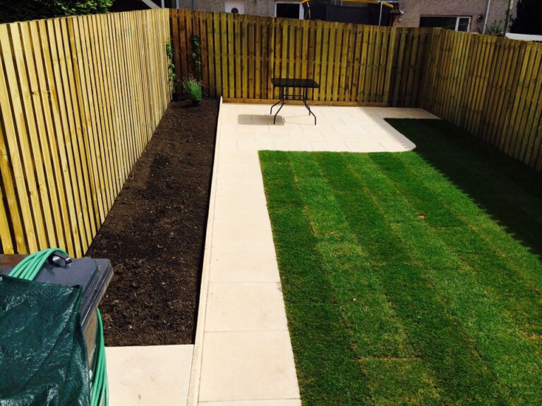 grass and slabs