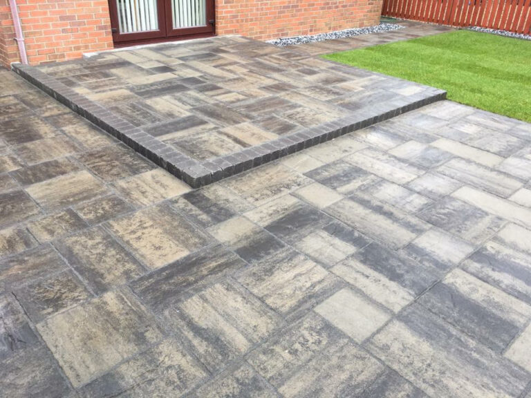 Paving slabs in back garden