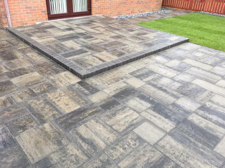 Paving slabs in back garden