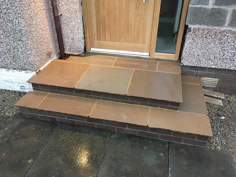 Steps in garden Glasgow