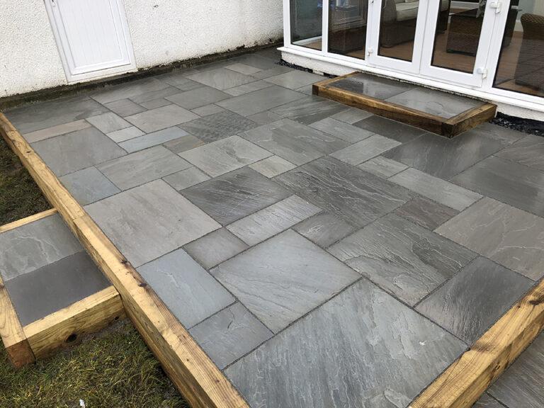 back garden paving slabs