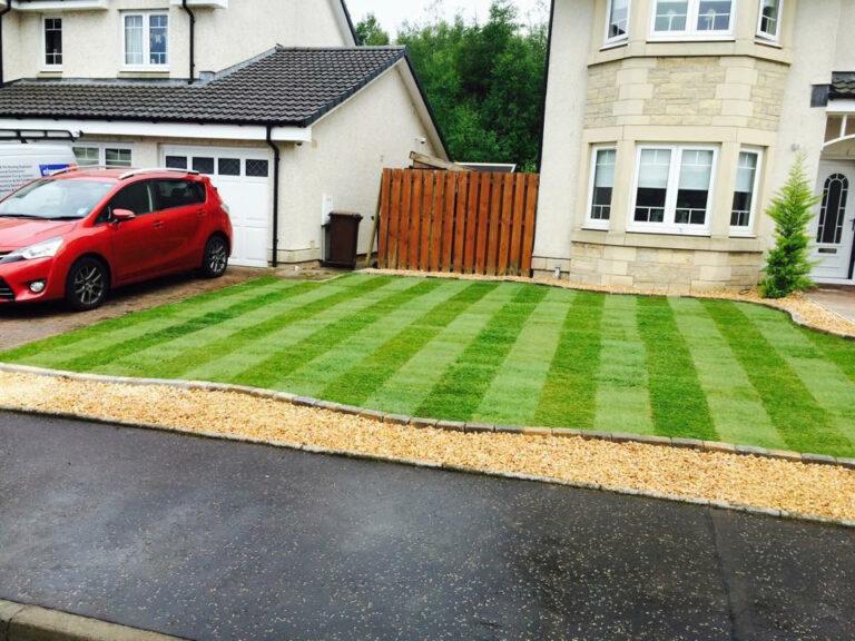 Grass front garden