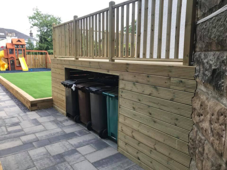 Decking in Glasgow Garden