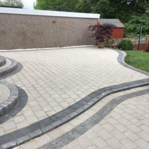 decorative garden paving