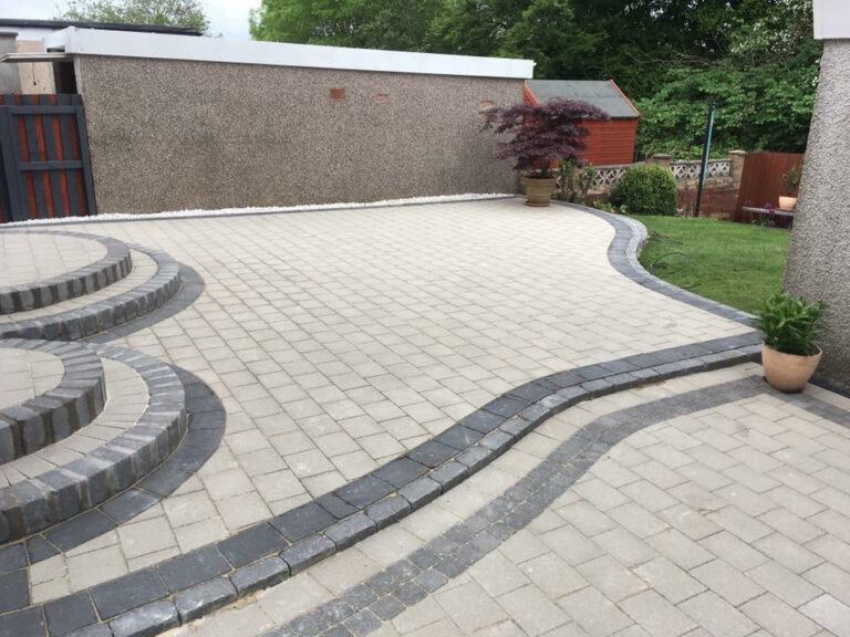decorative garden paving