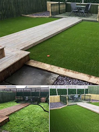 Another garden project completed in Stepps this week.